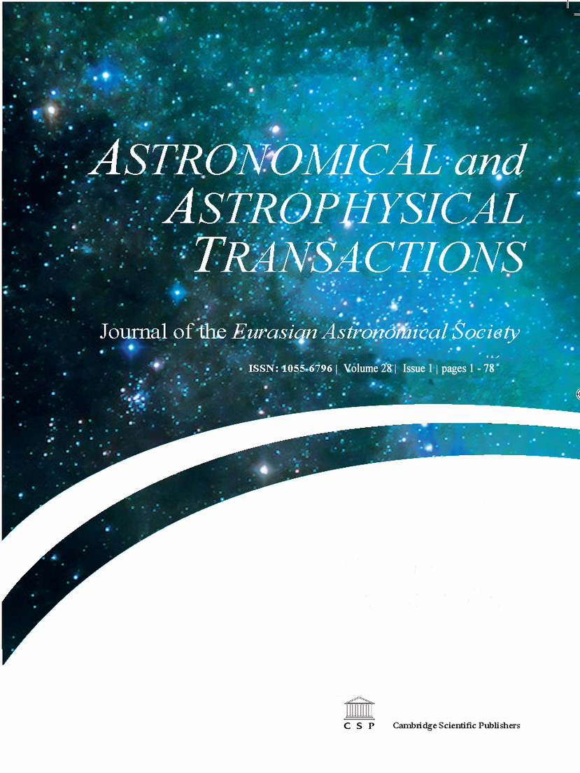 Astronomical and Astrophysical Transactions;nbsp