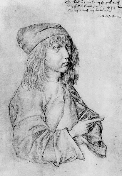 Dürer: self-portrait at 13 years old