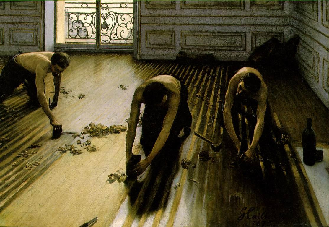 Webmuseum Caillebotte Gustave Les Raboteurs De Parquet