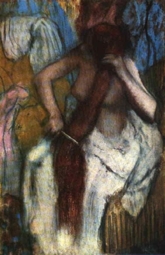 webmuseum degas edgar woman combing her hair